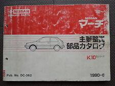 JDM NISSAN MARCH K10 Series Original Genuine Parts List Catalog aka Datsun Micra