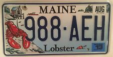 ACADIA NATIONAL PARK WILDLIFE LOBSTER license plate 998 AEH Pound Homarus Fish