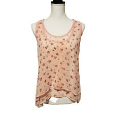 American Dream Razorback Top Medium Pink Floral Layered Lined