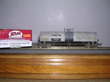 ATLAS #1558-2  Stauffer Chemical 17,360 Gallon Tank Car #85287 Weath. H.O.Gauge