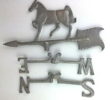 Weathervane Parts Horse North South East West Aluminum Antique Rustic Farmhouse