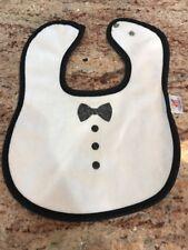 Baby Boys Raindrops Tuxedo Bib -Black White- Bow Tie- Adorable! Wedding!