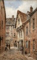 NEIL STUART CRICHTON 1853-1913 Watercolour Painting STREET VIEW LANDSCAPE c1900