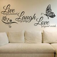 LIVE LAUGH LOVE Quote Wall Sticker Vinyl Decals Removable Room Home Decor Mural