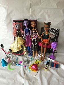 Monster High - Used Doll Bundle - Mouscedes, Jane, Clawdeen, Clawd