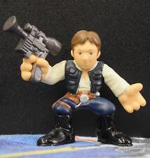 Star Wars Galactic Heroes Han Solo Black Vest Blue Pants Brown Belt 2001 Loose
