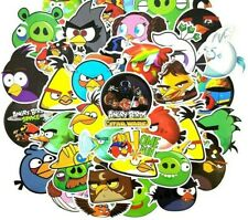 Angry Birds Assorted Skateboard Stickers Lot Of 50 Pieces