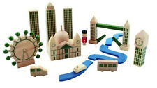 WOODEN MINI LONDON CITY IN A BAG GREAT GIFT INC LONDON BRIDGE (VERY SMALL)