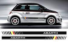 Fiat 500 Abarth bi color Custom Side Stripe autocollant/stickers