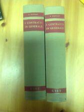 N. DISTASO I CONTRATTI IN GENERALE (2 VOLUMI)  UTET 1966