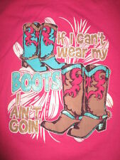 """Country Music """"If I Can't Wear My Boots I Ain't Goin'"""" (Lg) T-Shirt Nashville"""