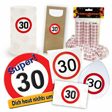 """Riesen Streudeko Verkehrsschild /""""30/"""" Dekoration Geburtstagsdeko Konfetti"""