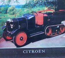Altes Blechschild Oldtimer PKW Citroen Halbkette gebraucht  used