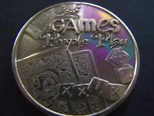 Undated Olympus GAMES PEOPLE PLAY Bronze High Relief Mardi Gras Doubloon