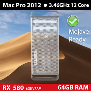 2012 Mac Pro 3.46GHz 12-Cores 64GB 2TB SSD + 1TB RX 580 8GB