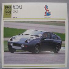 Midas Gold Collectors Classic Cars Card