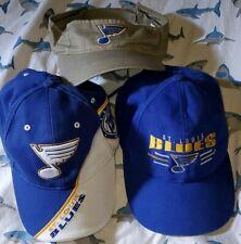 St Louis Blues Lot Of Three Strap Back Hats