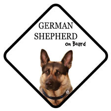 GERMAN SHEPHERD On Board Car Sign With Sucker Dog Stickers