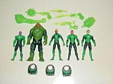 """2011 MATTEL DC COMICS GREEN LANTERN MOVIE RYAN REYNOLDS 4"""" ACTION FIGURES & RING"""