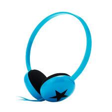 Lightweight Star Kids Childrens Headphones Blue for Nokia iPhone Samsung HTC LG