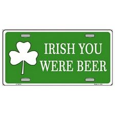 USA Novelty Number Plate - Irish You Were Beer Wall Art Sign Home Decor Gift