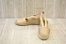 Anne Klein Abbey Sequin Wedge Espadrille Sandals, Women's Size 7.5M, Pink