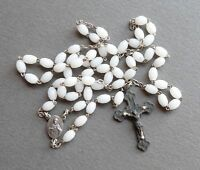 French, Antique Rosary. Glass Bead. Crucifix. Cross. Rosarie. Jesus Sacred Heart