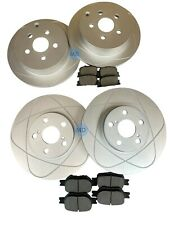 Full Set Front & Rear Disc Brake Rotors+Ceramic Brake Pads For 05-10 Scion TC
