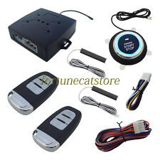 PKE Car Alarm Push Start Remote Start Engine Auto Lock Unlock Door Stock In