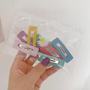10Pcs Hair Clips Snap Clip Matte Hair Clip Barrette Hairpin Hair Accessories