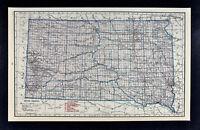 c1930 Hammond Railroad Map - South Dakota Pierre Rapid City Sioux Falls Aberdeen