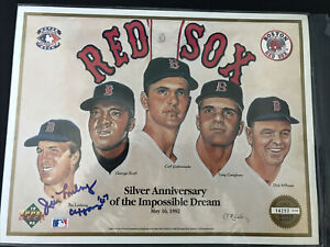 1967 Boston Red Sox Yastrzemski/Conigliaro Signed Jim Lonborg Promo Upper Deck