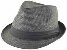 Straw Fedora-black-62cm-2xl