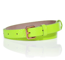 Marc By Marc Jacobs Women's Python Shine Belt Fluoro Lime Sz XS / S 0924