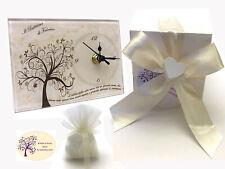 Bomboniere cresima Albero della Vita orologio personalizzato comunione nozze