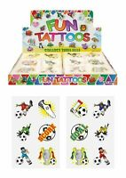 24 Childrens Football Temporary Tattoos Kids Loot Party Bag Fillers Boys Girls