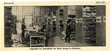 Die Lagerhalle der Zentralstelle des Roten Kreuzes in Düsseldorf von 1914