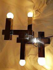 METRIC CHANDELIER OR CEILING OR SCONCE  BY  SCIOLARI  4 LIGHTS. 60,70