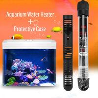 25/50/100/200/300W Aquarium Fish Tank Adjustable Water Heater +Protective Case