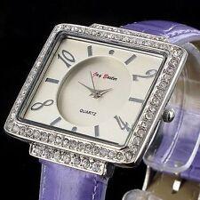 Markenlose rechteckige Armbanduhren mit 12-Stunden-Zifferblatt für Damen