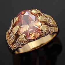 Mans Jewelry Size 10 Fantastic Topaz 18K Gold Filled Bridal Wedding Ring Gift