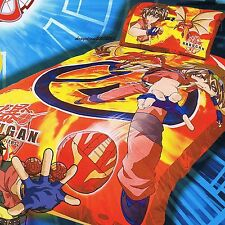 Bakugan - Red Ball - Single/US Twin Bed Quilt Doona Duvet Cover Set