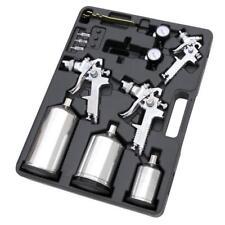 12 Piece Air Spray Paint Gun Kit - includes 2 HVLP Spray guns & 1 Mini Spray Gun