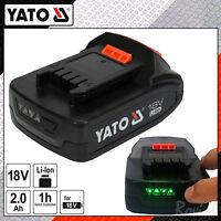 Yato Pro Ersatz Akku Pack 18 V 2,0 AH Li-Ion m. LED-Anzeige Ersatzakku Original