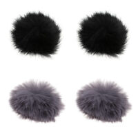 4 Pcs Furry Cover Wind Screen Windshield Wind Muff For Lapel Lavalier Micro