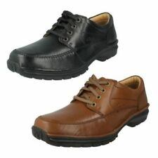 Zapatos informales con cordones de hombre en color principal marrón de piel