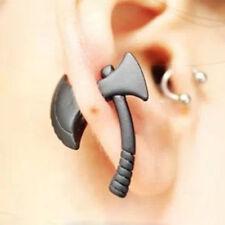 1pc Personality Punk Black Ax Hatchet Mens Womens Stud Earring DH