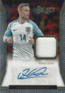 2016-17 Panini Select Soccer 'Jersey Autograph' Relic Autograph Base Common Card