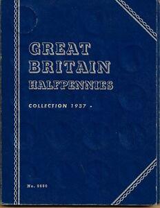 WHITMAN FOLDER GREAT BRITAIN HALF PENNIES 1937-1967 COMPLETE