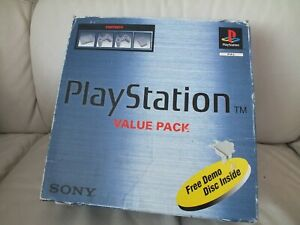 BOXED SONY  PLAYSTATION 1 CONSOLE + ONE GAME